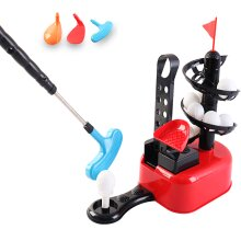 deAO Beginners Golf Training Play Set with Club, Play Balls and Foot Pedal Base Included