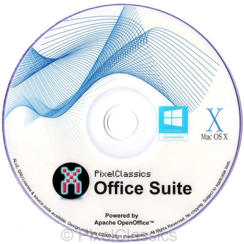 Office Suite 2021 Microsoft Office 365 2016 Compatible Software DVD CD Powered by Apache OpenOfficeTM for PC Windows 10, 8.1 8, 7, Vista XP & Mac OS X
