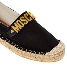 Love Moschino Black Gold Logo Espadrilles Shoes Sneakers Trainers Not Jacket Coat Top Shirt Jumper Hat Bag Coat backpack Jeans Belt