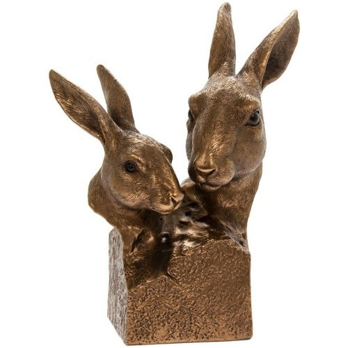 Reflections Bronzed Hare Busts Ornament