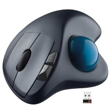 Logitech Trackman M570 Wireless Cordless Mouse with Trackball for Windows, Mac OS - Black - 910-001799