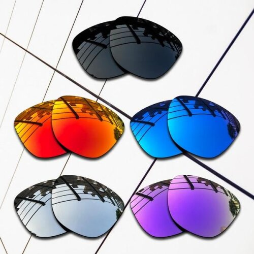 (All Polarized-5 Pair) E.O.S Polarized Replacement Lenses for Oakley Frogskins Sunglasses