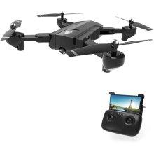 Foldable FPV WiFi RC Quadcopter Double Hd Camera Selfie Drone Black