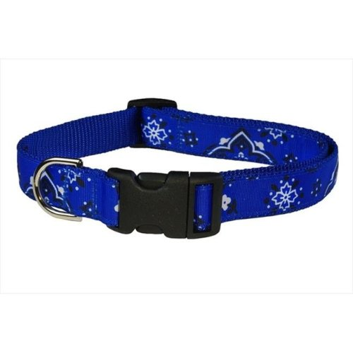 Bandana Dog Collar, Blue - Extra Small