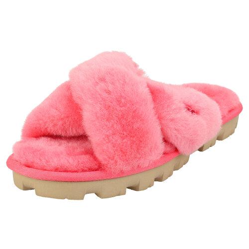 UGG Fuzzette Womens Slide Sandals in Strawberry Sorbet - 5 UK