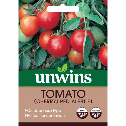 Unwins Pictorial Packet - Tomato Red Alert F1 - 10 Seeds