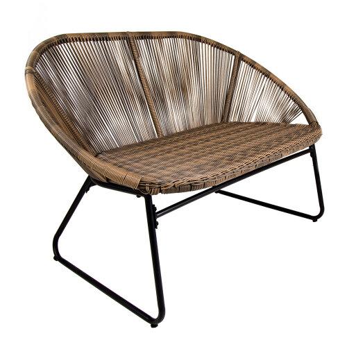 Charles Bentley Bali 2 Seater Outdoor Garden Patio Bench - Natural