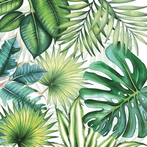 4 x Paper Napkins - Tropical Leaves - Ideal for Decoupage / Napkin Art