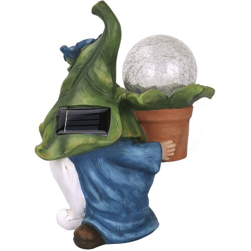 Petrickor Glowing Garden Gnomes   Solar Powered LED Light-Up Ornaments