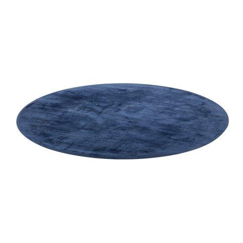 Round Area Rug Viscose ø140 Blue GESI