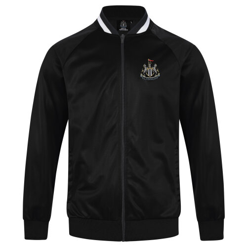 Newcastle United FC Official Football Gift Mens Retro Track Top Jacket