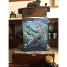 The Selkie of the Sules Skerry Greetings card by Hannah Willow