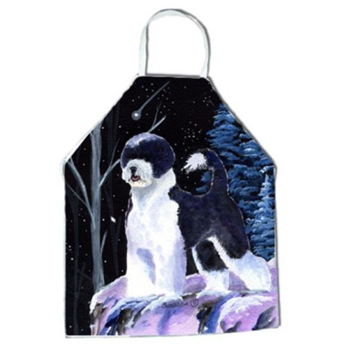 Starry Night Portuguese Water Dog Apron - 27 x 31 in.