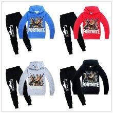 Boy Fortnite Costume Casual Hoodie Sweatshirt Pullover Tops Pants Outfit