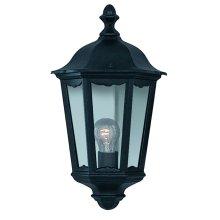 Traditional Black Half Outdoor Wall Lantern IP44
