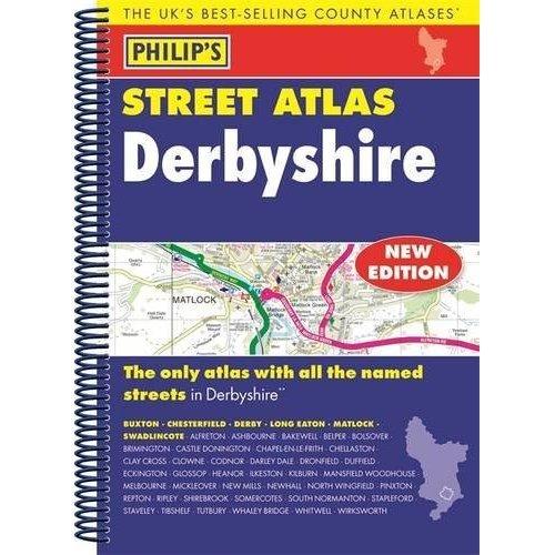 Philip's Street Atlas Derbyshire: Spiral Edition