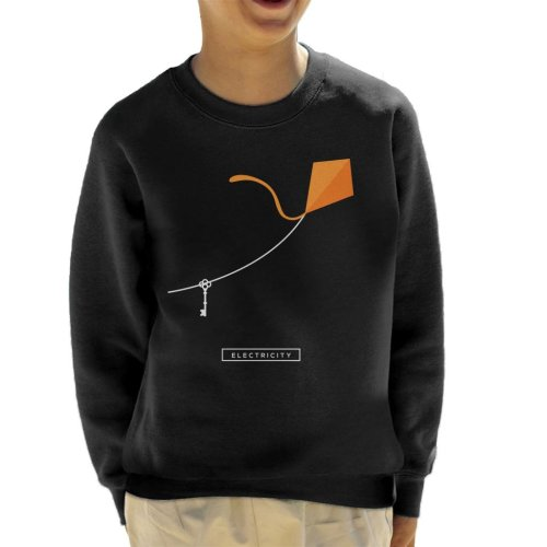 Maths And Science Benjamin Franklin Kite Experiment Kid's Sweatshirt