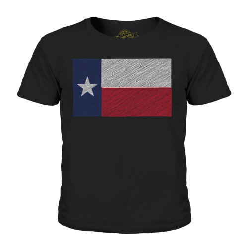 Candymix - Texas State Scribble Flag - Unisex Kid's T-Shirt