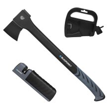 """Felling Axe CX7000 for Wood - 2.8lb 1.2kg - 23.5"""" 60cm - With Sharpener and Storage Mount"""