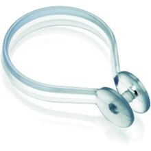 Croydex Shower Curtain Button Rings (Pack of 12) Clear [AK142232]