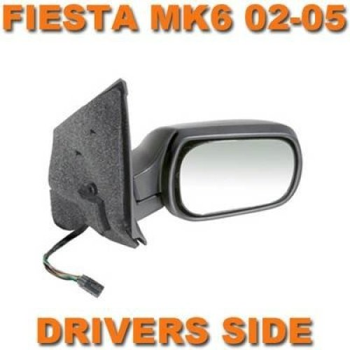 Ford Fiesta Mk6 2002-2005 Electric Wing Door Mirror Black Cover Drivers Side