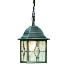 Aluminium Outdoor Porch Lantern With Leaded Glass