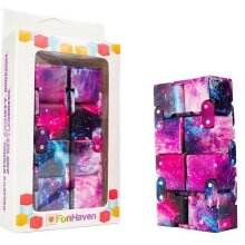 FunHaven Infinity Cube Fidget Toy for Anxiety Toys Girls Boys Adults Cubes Galaxy Fiddle Stress Relief Sensory Folding Finger Fidgets