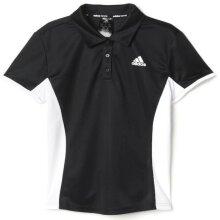 ADIDAS Women's Court Polo Top Tennis Workout Gym w Collar - Black/White