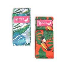 Premium Fabric Resistance Band Non-Slip Tropical Print