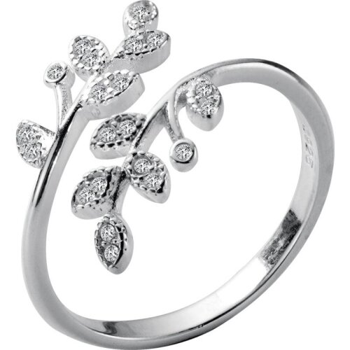 (As Seen on Image) Crystal Leaf Ring
