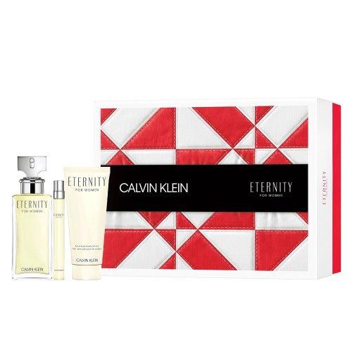 Calvin Klein Eternity Pour Femme - Gift Set With 100ml EDP, 10ml Purse Spray and 100ml Body Lotion
