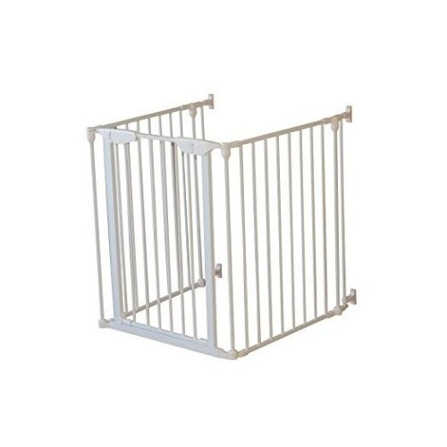 PawHut Retractable Safety Gate Folding Protector 115Lx82.5Hcm Home Doorway