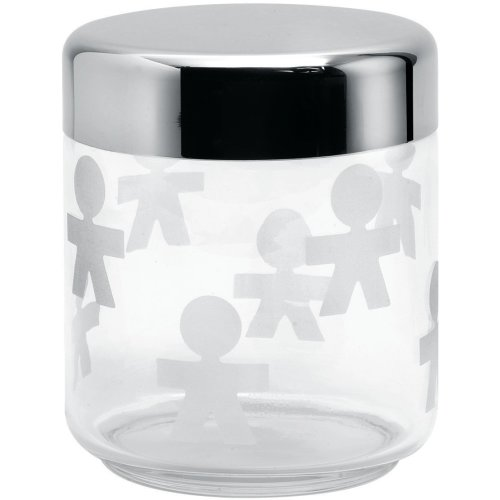 Alessi AKK36 Girotondo Kitchen Storage Jar with Hermetic Lid, 750ml