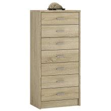 4 You 7 Drawer narrow chest in Sonama Oak