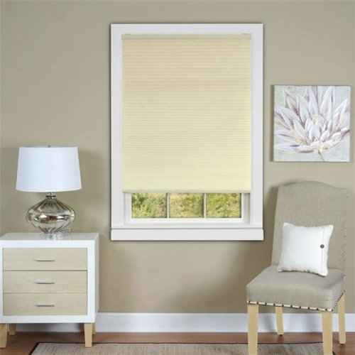 Honeycomb Cellular Alabaster Pleated Cordless Shade 36x64