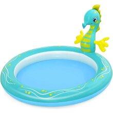 Bestway Kids' Seahorse Sprinkler Paddling Pool