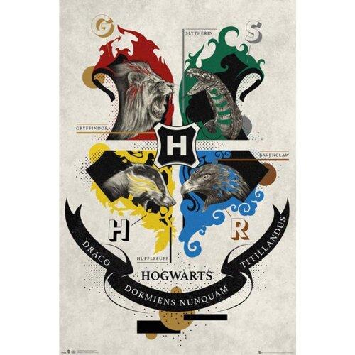 Harry Potter Hogwarts Houses Poster