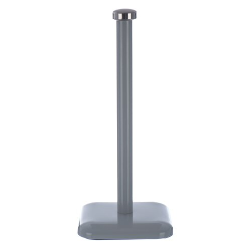 (Grey) Taurus Stainless Steel Kitchen Towel Paper Roll Pole Holder