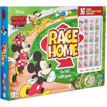 Disney Mickey & Friends Race Home Board Game for Kids Age 4 Years Old +, Multi