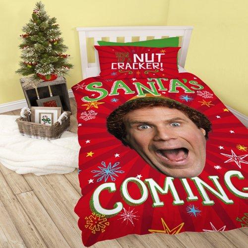 Elf Santas Coming Christmas Reversible Duvet Set