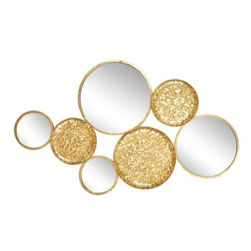 Sagebrook Home 13893-01 39 in. Metal Mirrored Wall Decor, Gold