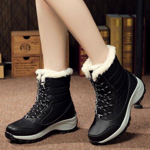 Winter Waterproof Platform Boots For Women