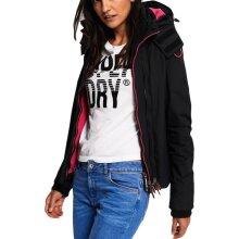 Superdry Women's Pop Zip Hooded Arctic SD-Windcheater Black/Raspberry