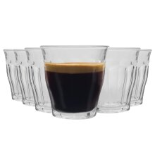 Duralex Picardie Glass Espresso Cups Shot Glasses Set Clear 90ml x12