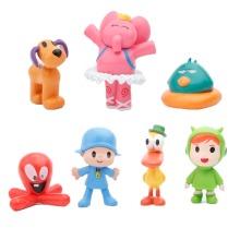7pcs/set  Pocoyo Zinkia Toy Action Figure Kid Gift