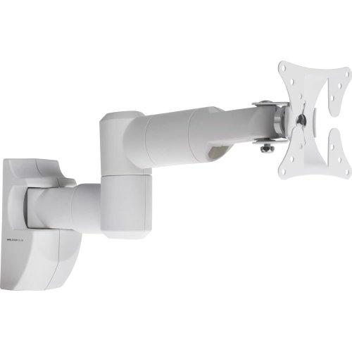PROPER Swing Arm Full Motion TV Bracket, White