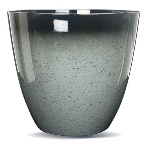 Gr8 Garden Large Round Glazed Effect Egg Cup Planter Patio Flower Plant Pot Tub Grey