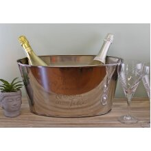 Stainless Steel Champagne Bucket Bottle Cooler Bowl