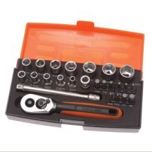 Bahco 25pc Socket Set - 1/4 Inch Drive