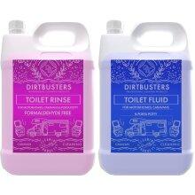 Dirtbusters caravan and motorhome toilet chemicals blue pink 2 x 2 l